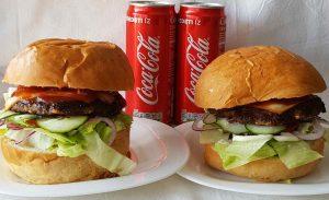 2 db hamburger akció ajándék üdítővel