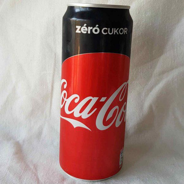 0,33 literes coca cola zero